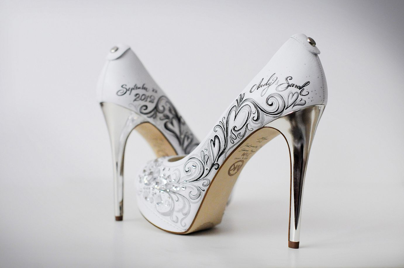 Skull Shoes High Heels